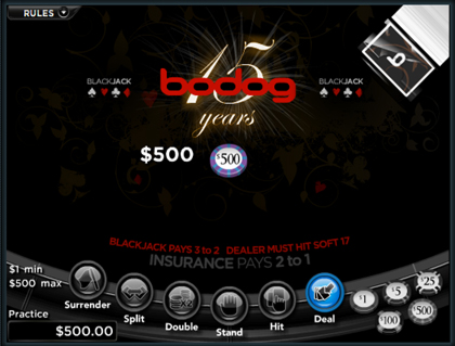 Bodog Canada Casino Double Blackjack Promos