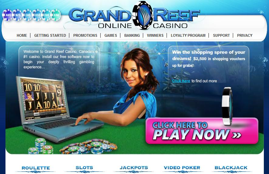 grand reef casino bonus code
