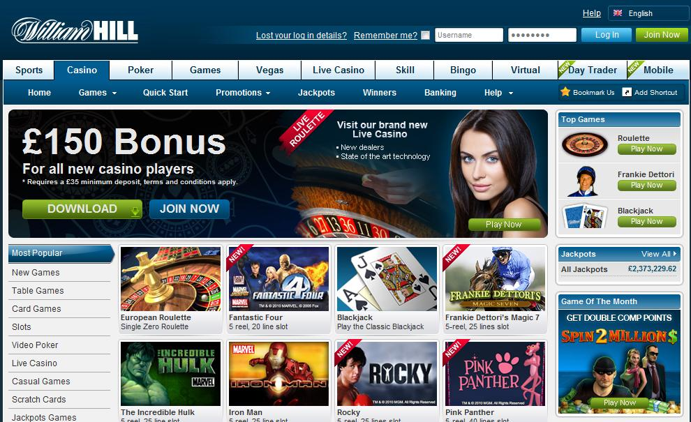 william hill casino club chat